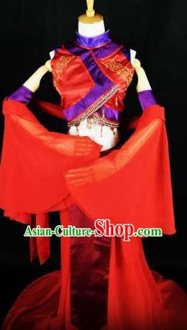 Traditional Chinese Ancient Palace Lady Dance Costume Han Dynasty Nobility Lady Clothing for Women