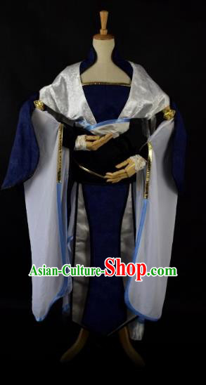 Traditional Chinese Ancient Swordsman Embroidered Costume Han Dynasty Chivalrous Woman Clothing