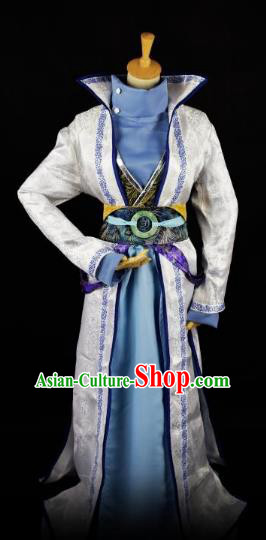 Traditional Chinese Ancient Swordsman Hanfu Costume, China Han Dynasty Royal Highness Clothing for Men