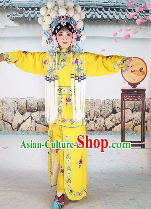Chinese Beijing Opera Magic Warriors Embroidered Costume, China Peking Opera Blues Embroidery Clothing