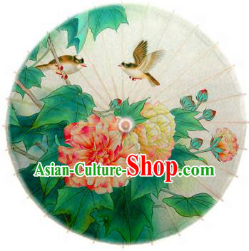 Handmade China Traditional Folk Dance Umbrella Stage Performance Props Umbrellas Painting Malus Spectabilis Oil-paper Umbrella