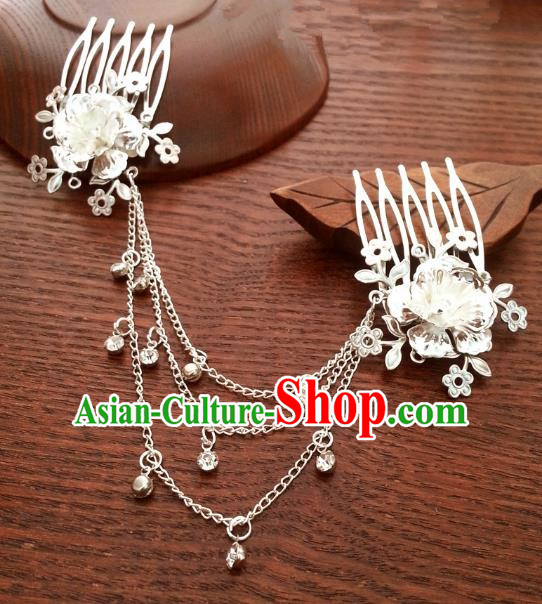 Traditional Handmade Chinese Ancient Classical Hair Accessories Hairpins Lotus Hair Comb for Women