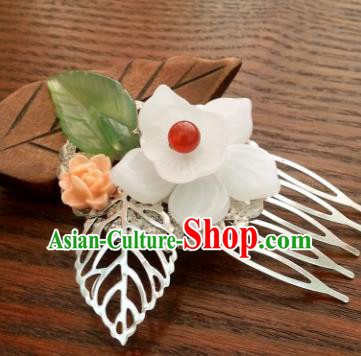 Traditional Handmade Chinese Classical Hair Accessories Flower Hair Comb Hairpins for Women