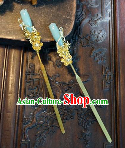 Chinese Handmade Classical Magnolia Hairpins Hair Accessories Ancient Imperial Empress Hair Clip for Women