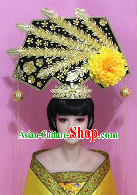 Traditional Chinese Handmade Hair Accessories Ancient Qing Dynasty Manchu Imperial Concubine Headwear for Women