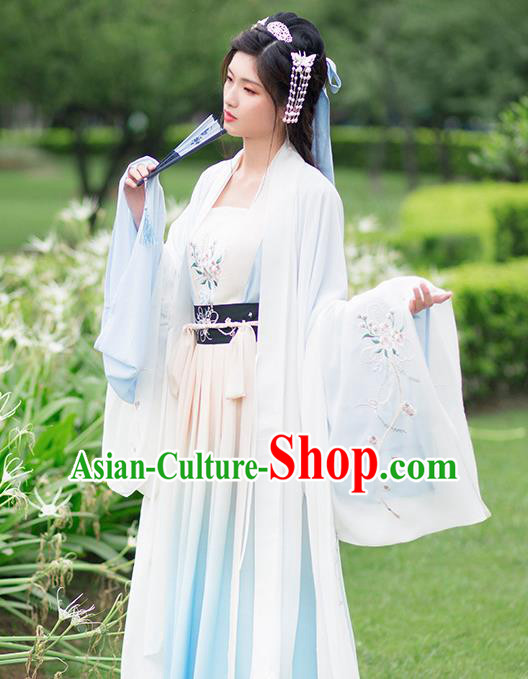 Ancient Chinese Tang Dynasty Nobility Lady Costumes Hanfu Dress for Rich