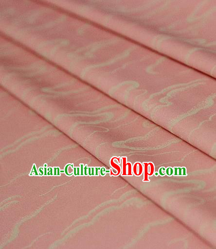 Asian Chinese Traditional Pattern Pink Silk Fabric Ancient Hanfu Brocade Fabric Drapery Material