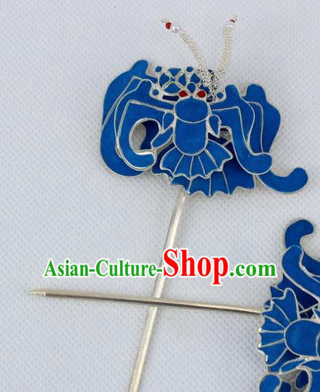 Chinese Traditional Peking Opera Diva Hair Accessories Ancient Bats Hairpins for Women