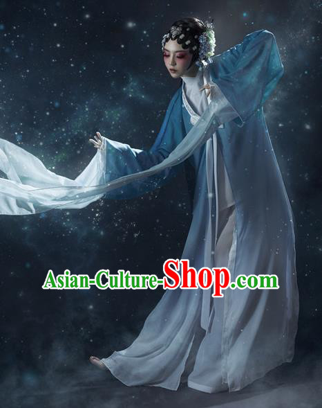 Traditional Chinese Ancient Beijing Opera Peri Imperial Concubine Costumes and Headpiece Complete Set for Women