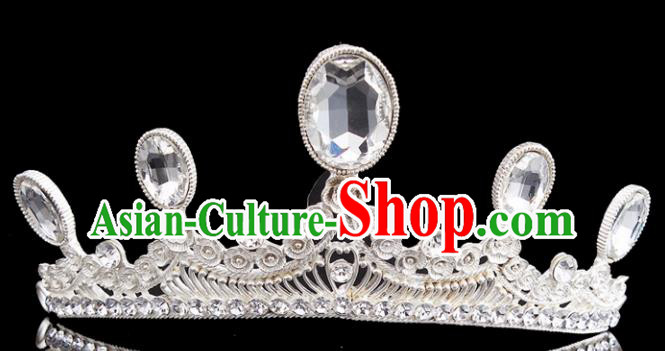 Top Grade Bride Wedding Hair Jewelry Accessories Baroque Crystal Royal Crown for Women