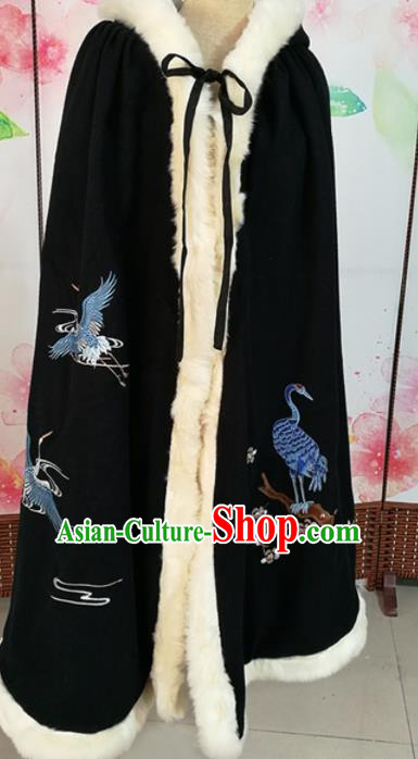 Traditional Chinese Ming Dynasty Nobility Lady Costumes Ancient Embroidered Cloak for Rich