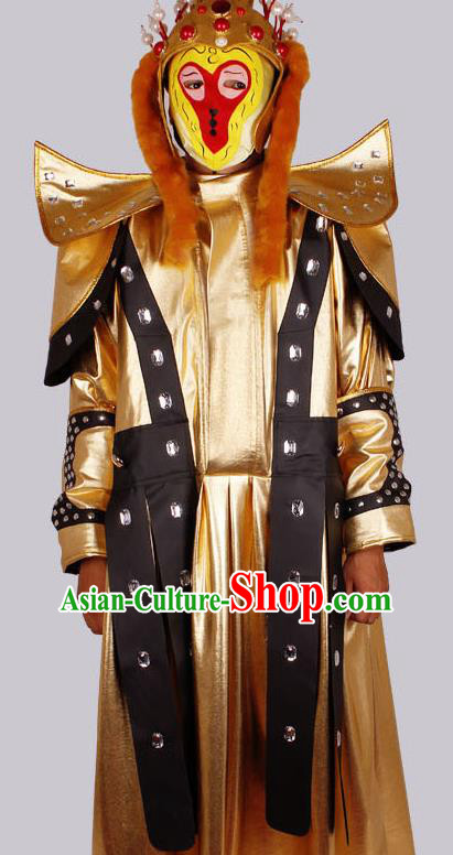 Traditional Chinese Beijing Opera Costume Sichuan Opera Changing Faces Sun Wukong Embroidered Clothing for Men