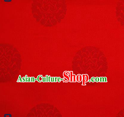 Traditional Chinese Brocade Drapery Classical Pattern Design Red Satin Qipao Silk Fabric Material