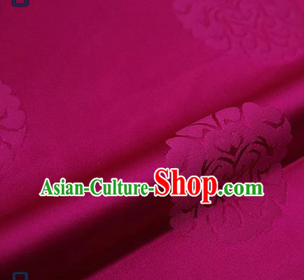 Traditional Chinese Brocade Drapery Classical Pattern Design Purple Satin Qipao Silk Fabric Material