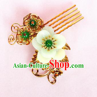 Chinese Traditional Handmade Hair Accessories Ancient Queen Flowers Hair Comb Hairpins for Women