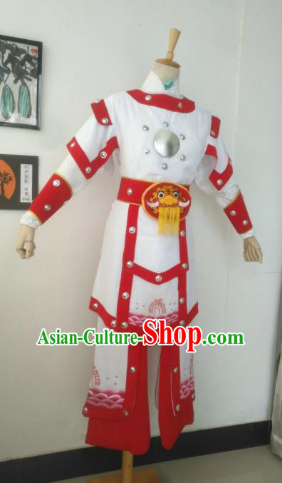 Chinese Traditional Peking Opera Female General Hua Mulan Costume Ancient Warrior Clothing for Adults