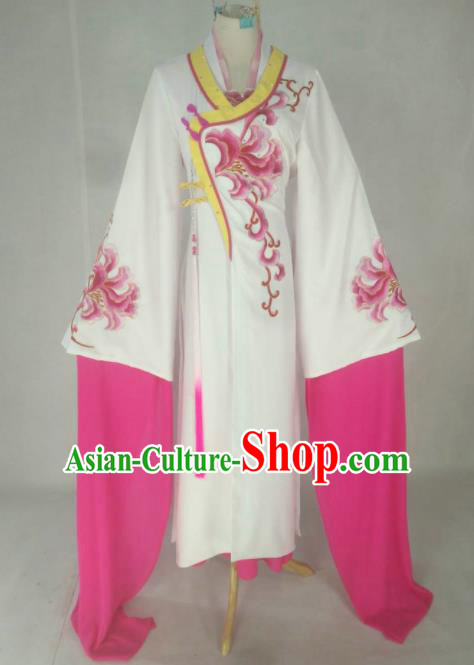 Chinese Traditional Peking Opera Princess Costumes Ancient Beijing Opera Diva Rosy Dress for Adults