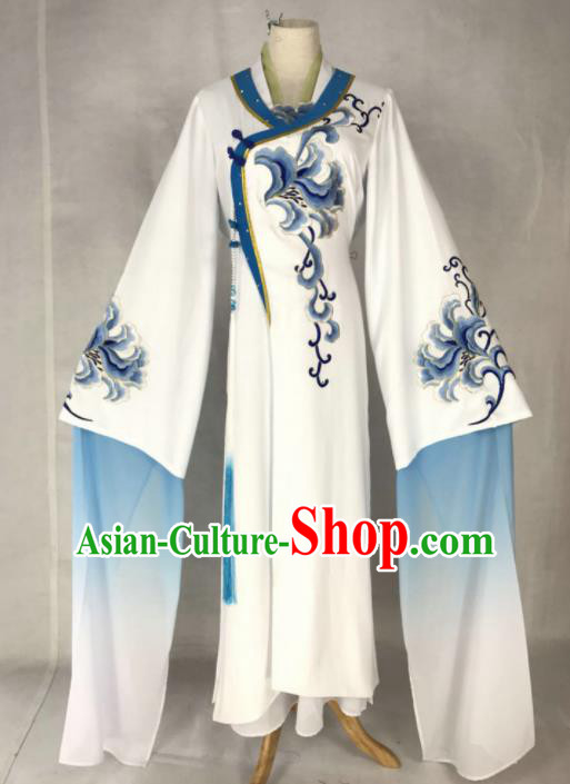 Chinese Traditional Peking Opera Princess Costumes Ancient Beijing Opera Diva Blue Dress for Adults