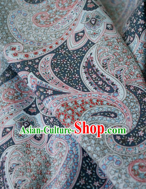 Asian Japanese Traditional Kimono Brocade Fabric Silk Material Classical Pattern Design Drapery