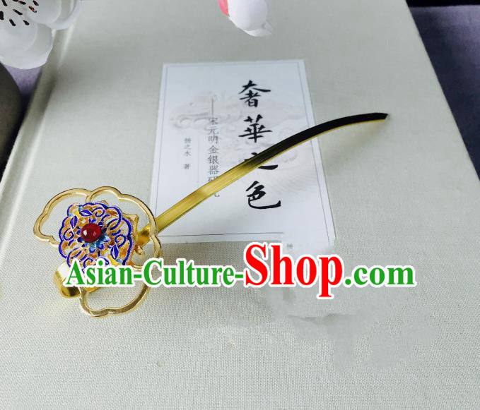 Chinese Classical Blueing Hairpins Wedding Hair Accessories Traditional Ancient Hair Clip for Women