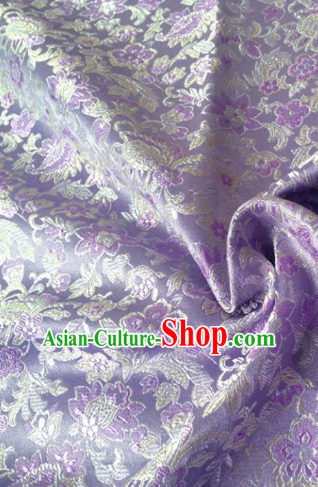 Chinese Traditional Tang Suit Purple Brocade Classical Pattern Dragons Design Silk Fabric Material Satin Drapery