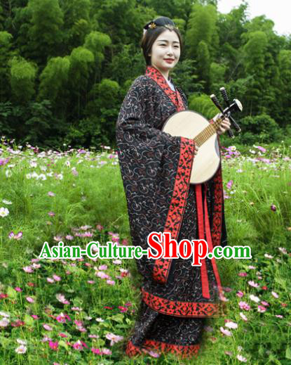 Chinese Traditional Han Dynasty Courtesan Historical Costumes Ancient Imperial Consort Hanfu Dress for Women
