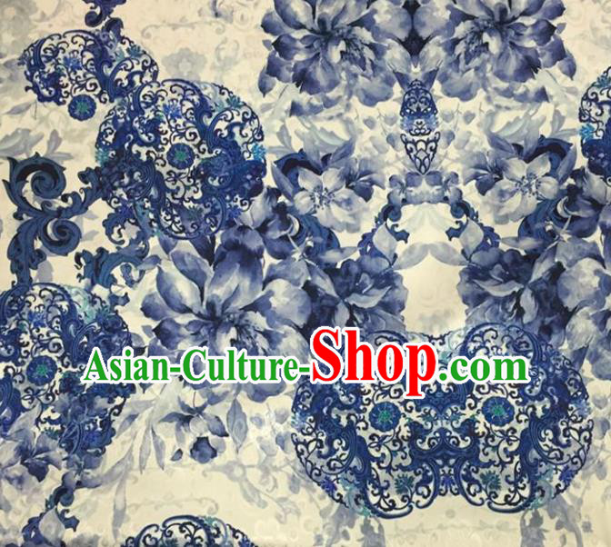 Chinese Traditional Apparel Fabric Qipao Dress Brocade Classical Pattern Design Silk Material Satin Drapery