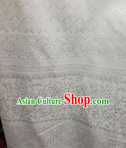 Chinese Traditional Apparel Fabric Brocade Classical Pattern Design Silk Material Satin Drapery