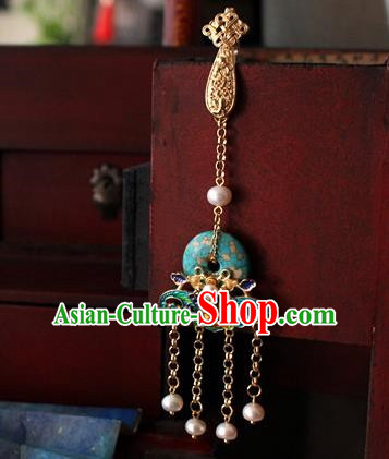Chinese Classical Jewelry Accessories Traditional Hanfu Bat Brooch Tassel Pendant for Women