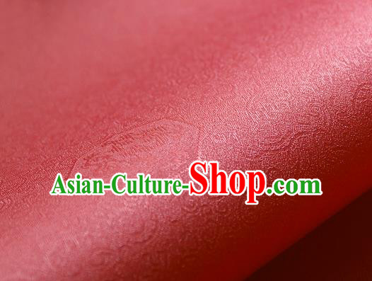 Traditional Asian Classical Pattern Cloth Drapery Pink Brocade Korean Hanbok Palace Satin Silk Fabric