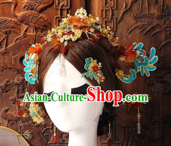 Chinese Handmade Classical Hairpins Ancient Hanfu Headdress Hair Accessories Set for Women