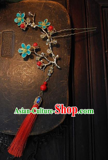 Chinese Handmade Classical Hair Accessories Flowers Hairpins Ancient Hair Clip Headdress for Women