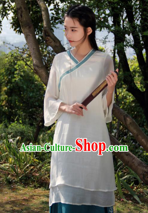 Traditional Chinese National Costume Embroidered Cheongsam Hanfu Dress for Women
