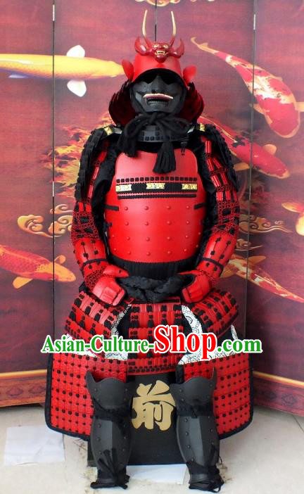 Traditional Chinese Stage Performance Costume Ancient Warrior Helmet and Armour Clothing for Men