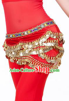 Traditional Asian Indian Belly Dance Waist Accessories Red Waistband India National Dance Belts for Women