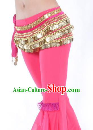Rosy Waistband Asian Indian Belly Dance Waist Accessories India National Dance Belts for Women