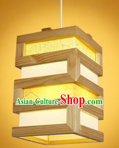 Chinese Classical Handmade Palace Lanterns Wood Hanging Lantern Ancient Ceiling Lamp