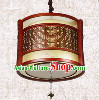 Traditional Chinese Wood Painted Palace Lanterns Handmade Hanging Lantern Ancient Ceiling Lamp