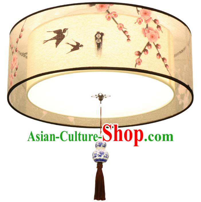 Traditional Chinese Ceramics Ceiling Palace Lanterns Handmade Lantern Ancient Porch Lamp