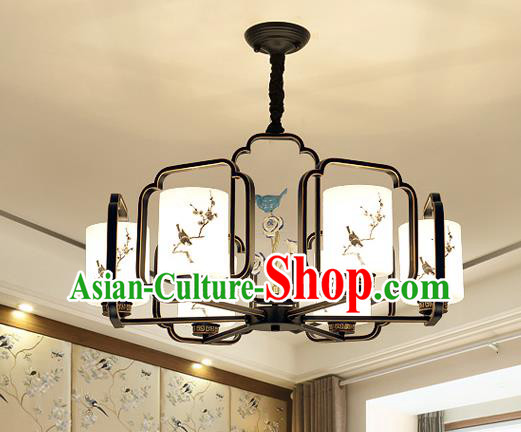 Traditional Chinese Printing Plum Blossom Ceiling Palace Lanterns Handmade Six-Lights Lantern Ancient Lamp
