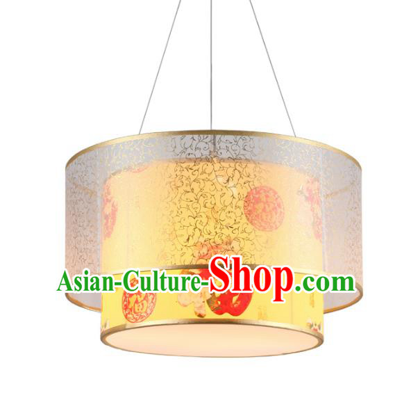 Traditional Chinese Palace Hanging Lanterns Handmade Painted Lantern Ancient Ceiling Lamp