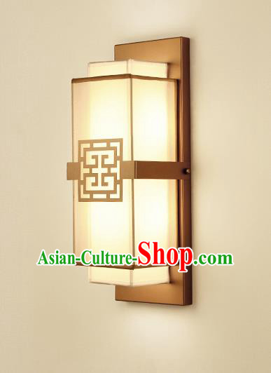 Traditional China Ancient Golden Wall Lanterns Handmade Iron Lantern Ancient Lamp