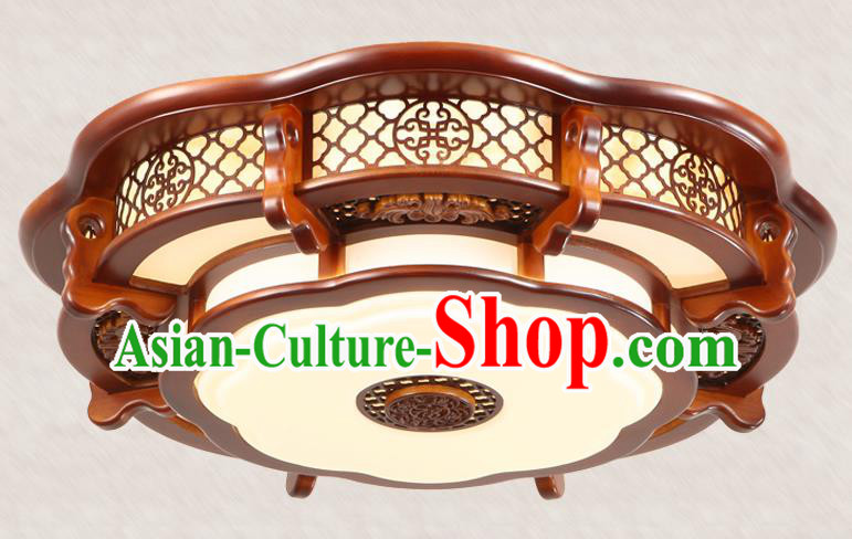 Traditional Chinese Handmade Wood Carving Ceiling Lantern Asian Lanterns Ancient Lantern