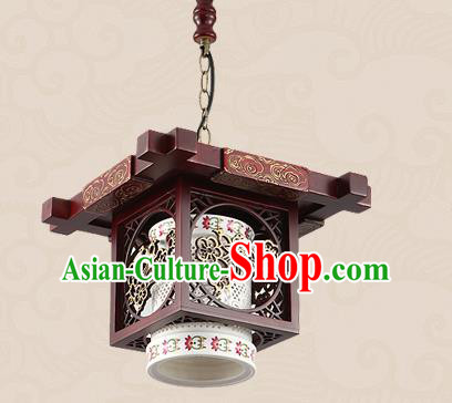 Traditional Chinese Handmade Lantern Asian Wood Carving Ceiling Lanterns Ancient Lantern