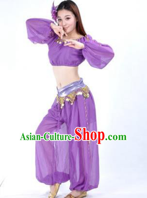 Traditional Bollywood Dance Performance Purple Clothing Oriental Dance Belly Dance Costume for Women