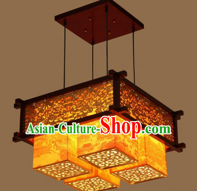 Asian China Traditional Handmade Lantern Palace Parchment Lanterns Ceiling Lamp Ancient Lanern