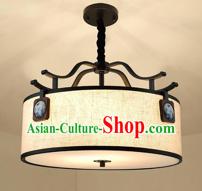 Traditional China Handmade Round Lantern Ancient Lanterns Palace Ceiling Lamp