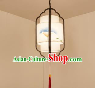 Traditional China Handmade Lantern Ancient Black Frame Hanging Lanterns Palace Ceiling Lamp