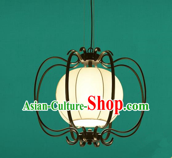 Traditional China Handmade Lantern Ancient Hanging Iron Lanterns Palace Ceiling Lamp