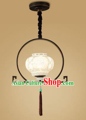 Traditional China Handmade Ceramics Lantern Ancient Lanterns Palace Ceiling Lamp